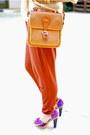 Light-purple-forever-21-scarf-tawny-vintage-dooney-bourke-purse