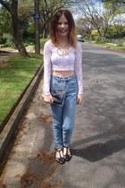 Boohoo top - Sportsgirl jeans - Colette necklace - Wittner flats