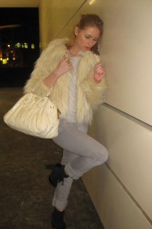 Topshop jacket - Prada bag