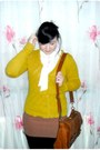 Tawny-warehouse-bag-camel-h-m-skirt-ivory-miso-blouse-mustard-h-m-cardigan