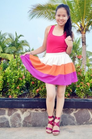 chicabooti skirt - chicabooti top - Charles and Keith heels
