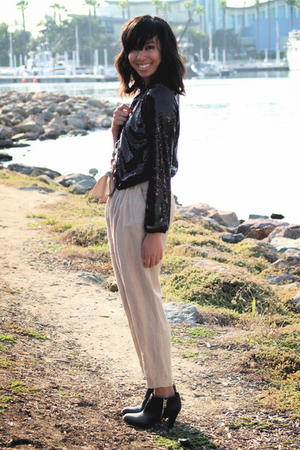 H&M jacket - Zara pants - vintage top - H&M shoes