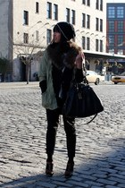 olive green Urban Outfitters jacket - black Marc by Marc Jacobs purse - black H&