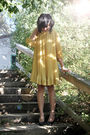 Gold-h-m-dress-black-h-m-shoes