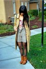 Camel-merona-coat-pink-h-m-top-light-brown-h-m-shorts-tawny-bakers-boots