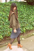 tawny Sway boots - army green parka cape coat LF jacket - ivory lace Forever 21