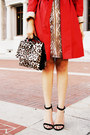 Brown-leopard-kurt-geiger-bag-gold-scala-dress-red-banana-republic-coat