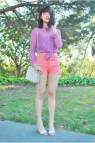 nude sandal Zara heels - ivory Chanel bag