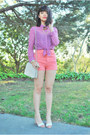 Ivory-chanel-bag-salmon-high-waisted-american-apparel-shorts
