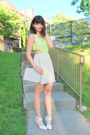 Lime-green-last-night-dress-ivory-vintage-chanel-bag