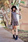 Navy-suede-madewell-boots-dark-brown-others-follow-dress-crimson-h-m-hat