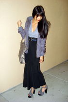 gray Jeffrey Campbell shoes - black Forever 21 skirt - gray Charlotte Russe jack