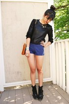black knit cropped H&M sweater - black Urban Outfitters boots