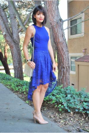lashes mac accessories - Lush dress - Chanel bag - Steve Madden heels