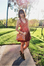 Brown-dicker-suede-isabel-marant-boots-brick-red-lace-back-tobi-dress