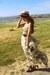 dittany SuperTrash dress - boater thrifted hat - thrifted belt - Jeffrey Campbel