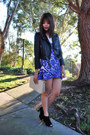 Black-suede-marc-fisher-boots-blue-lace-choies-dress