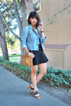 light blue denim Tommy Hilfiger jacket - tawny crossbody Hobo bags bag