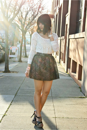 light pink lace skater Charlotte Russe skirt