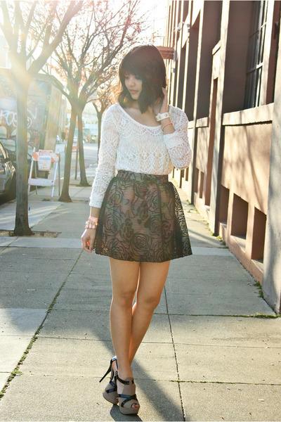light pink lace skater Charlotte Russe skirt