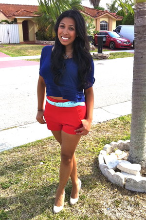 Forever 21 shoes - Forever 21 shorts - Forever 21 blouse
