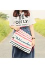 Red-h-m-bag-white-logo-t-shirt-red-gingham-sneakers