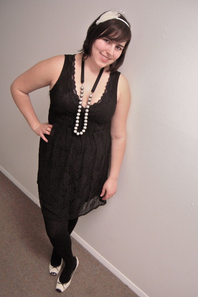 Formal Dress With Tights xhilaration dress - black