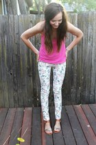 floral Forever 21 pants - hot pink Gilly Hicks top