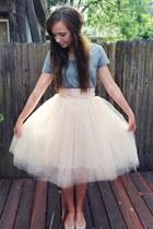 tulle Shabby Apple skirt - Target t-shirt - glitter J Crew flats