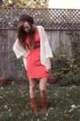 Red-riffraff-dress-brown-fringe-moccasin-minnetonka-boots