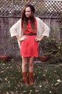 Brown-fringe-moccasin-minnetonka-boots-red-riffraff-dress