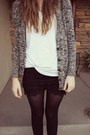 Lace-oasap-shorts-black-and-white-j-crew-sweater-oasap-t-shirt