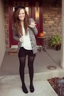 Black-and-white-j-crew-sweater-lace-oasap-shorts-oasap-t-shirt