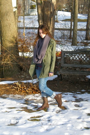 brown seychelles boots - olive green Olive & Oak jacket - heather gray Deena & O