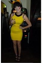 yellow Boohoo dress