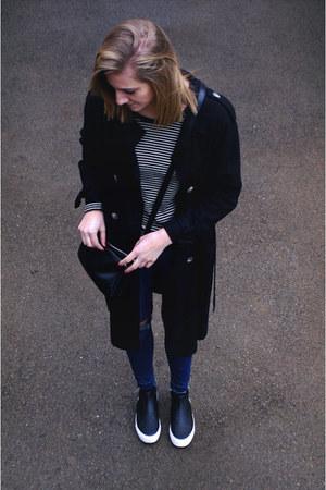 Topshop coat - hm jeans
