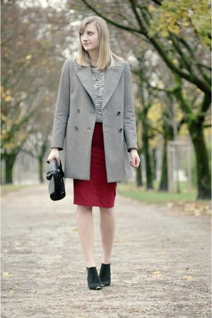 H&M coat - H&M bag - H&M skirt