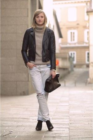 Zara jacket - pull&bear sweater - Zara bag