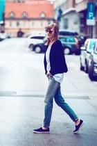 slip on Topshop sneakers - H&M pants