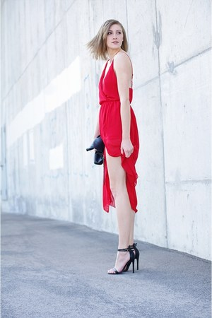 Sheinside dress - Promod bag