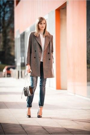 Zara coat - Bershka heels