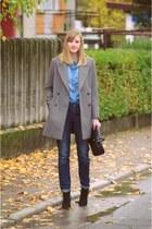 Zara coat - Zara bag