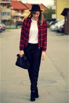tartan Zara jacket - Zara bag