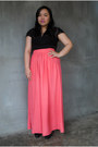 Salmon-maxi-witchery-skirt