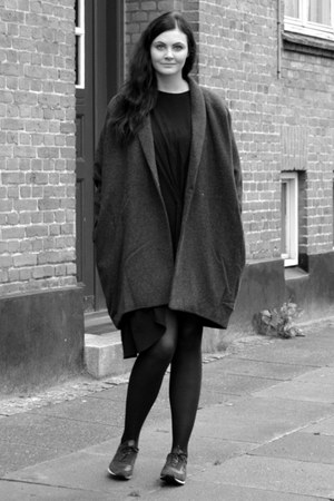 wool weekday jacket - rika dress - New Balance sneakers
