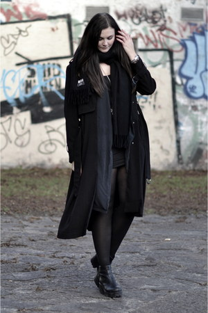 H&M top - leather vagabond boots - H&M Trend jacket - silk H&M Trend blazer