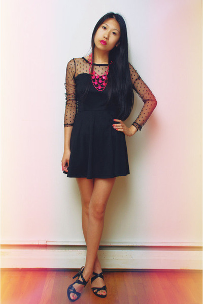 Hot Pink Shopcalico Necklaces Black Oasap Dresses Black Tahari
