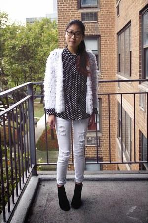 Zlz cardigan - PacSun jeans - Popbasic blouse
