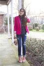 Bubble-gum-shoplately-shoes-navy-pacsun-jeans-hot-pink-romwe-blazer