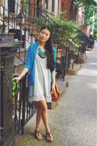 Lorraine Tyne necklace - Marshalls dress - PacSun cardigan - Forever 21 sandals